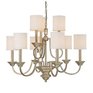 Fifth Avenue Winter Gold Nine-Light Chandelier