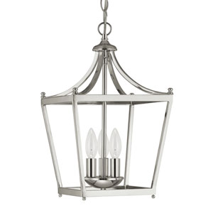 Stanton Polished Nickel Three-Light Foyer Pendant
