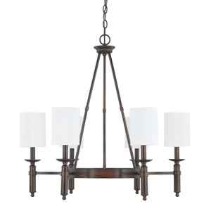 Covington Burnished Bronze Six-Light Chandelier