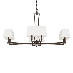 Westbrook Burnished Bronze Eight-Light 42.5-Inch Wide Chandelier