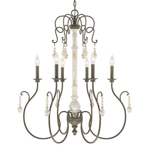Vineyard French Country Six-Light Chandelier