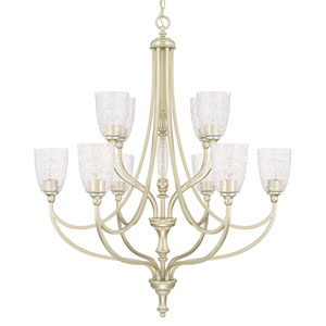 Seaton Soft Gold Ten-Light Chandelier
