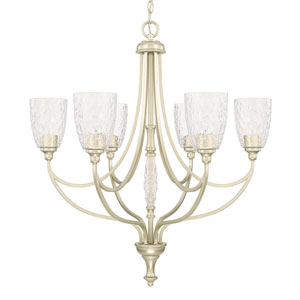 Seaton Soft Gold Six-Light Chandelier