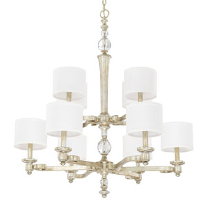 Carlyle Gilded Silver Ten-Light Chandelier