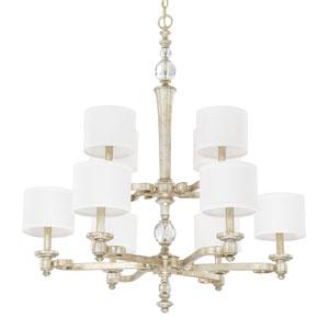 Carlyle Gilded Silver Ten-Light Chandelier
