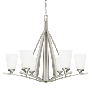 Boden Brushed Nickel Six-Light Chandelier