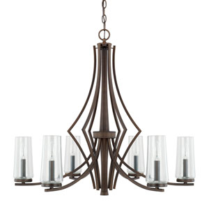 Donny Osmond Stella Burnished Bronze Six-Light Chandelier