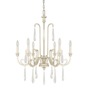 Cambridge Winter Gold Six-Light 27-Inch Wide Chandelier