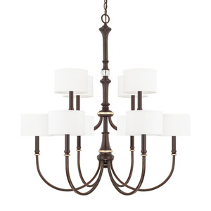 Asher Champagne Bronze Ten-Light Chandelier