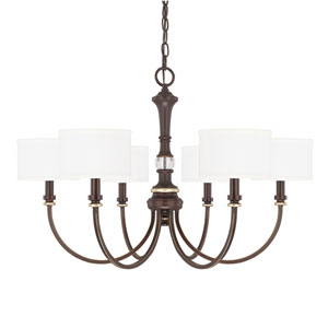 Asher Champagne Bronze Six-Light 20-Inch Chandelier