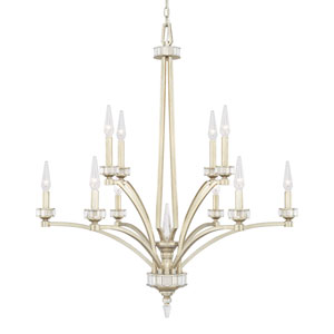 Olivia Winter Gold Ten-Light Chandelier