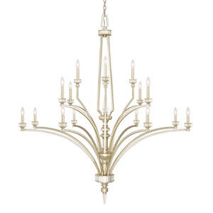 Olivia Winter Gold Sixteen-Light Chandelier