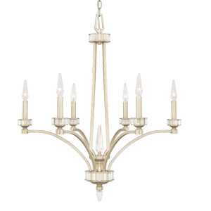 Olivia Winter Gold Six-Light Chandelier