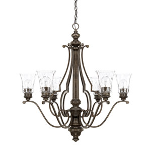 Sinclaire Renaissance Brown Six-Light Chandelier