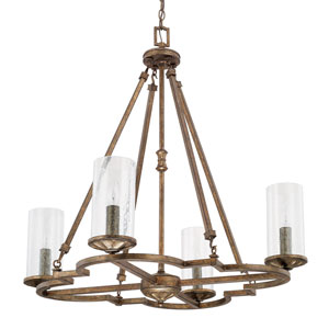 Avanti Rustic Four-Light Chandelier