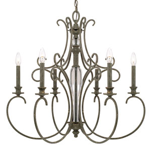 Everleigh French Greige Six-Light Chandelier
