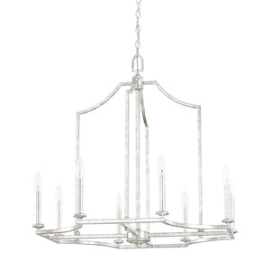 Oxford Silver Patina Eight-Light Chandelier