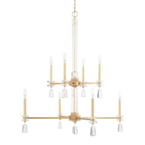 Milan Capital Gold Eight-Light Chandelier