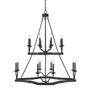 Ravenwood Black Iron 16-Light Chandelier