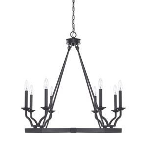 Ravenwood Black Iron Eight-Light Chandelier