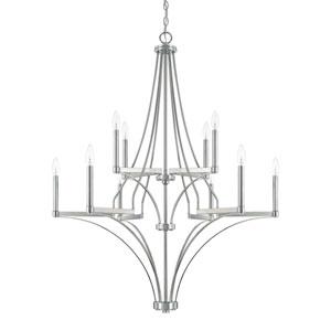 Wright Polished Nickel 10-Light Chandelier