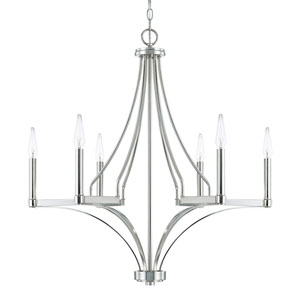 Wright Polished Nickel Six-Light Chandelier