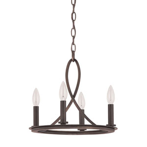 Chastain Tobacco Four Light Chandelier