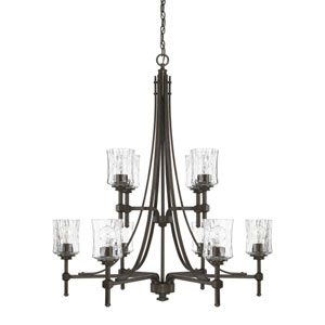 Porter Renaissance Brown 10-Light Chandelier