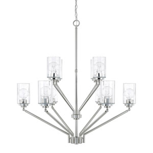 Camden Polished Nickel 10-Light Chandelier