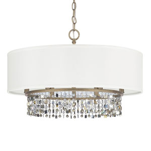 Harper Brushed Gold Six-Light Dual Mount Pendant