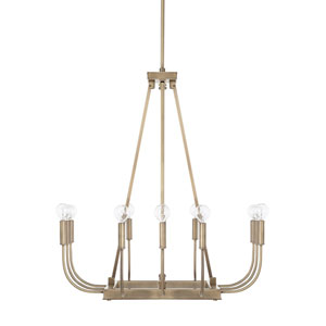 Zander Aged Brass 12-Light Chandelier