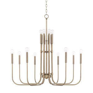 Zander Aged Brass 16-Light Chandelier