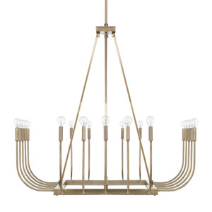Zander Aged Brass 20-Light Chandelier