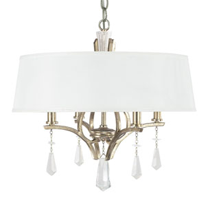 Margo Winter Gold Four-Light Dual Mount Pendant