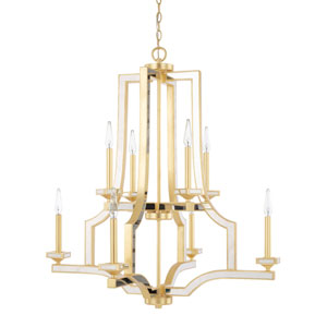 Abella Capital Gold Eight-Light Chandelier