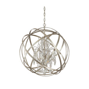 Axis Winter Gold Four Light Pendant with Crystals