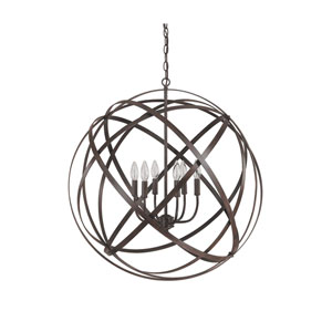 Axis Russet Six Light Pendant