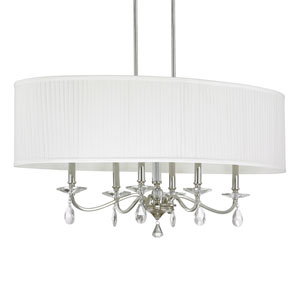 Alisa Polished Nickel Six-Light Island Fixture