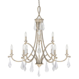Harlow Silver Quartz Nine-Light Chandelier