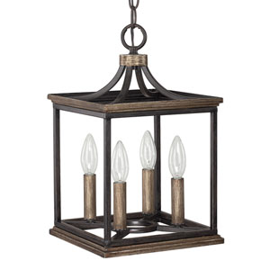 Landon Surrey Four-Light Dual Mount Foyer Pendant