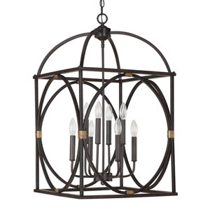 Surrey 18-Inch Wide Eight-Light Foyer Pendant