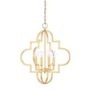 Ellis Capital Gold 18-Inch Four-Light Pendant