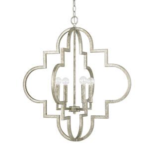 Ellis Antique Silver Four-Light Twenty-Six-Inch Pendant
