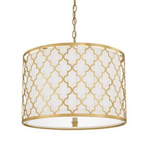 Ellis Capital Gold Three-Light Pendant