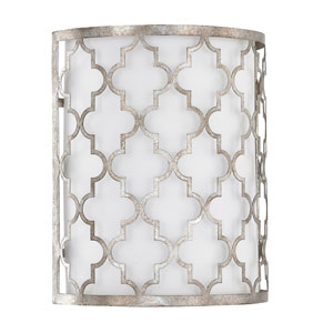 Ellis Antique Silver Two-Light Sconce