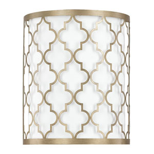 Ellis Brushed Gold Two-Light Wall Sconce