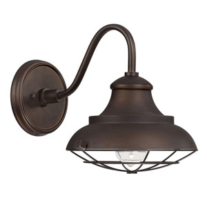 Burnished Bronze Barn Style Outdoor Wall Mount