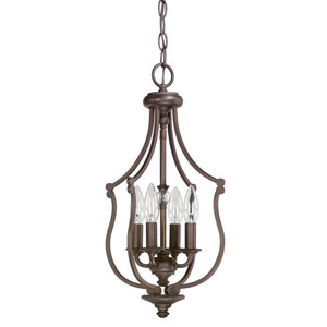 Leigh Burnished Bronze Four-Light Ten-Inch Pendant