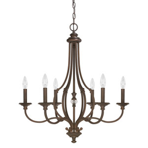 Leigh Burnished Bronze Six-Light Chandelier