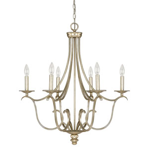 Bailey Winter Gold Six-Light Chandelier